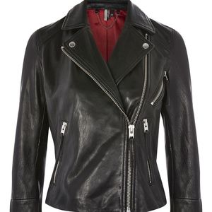 Topshop Leather Rosemary Biker Jacket